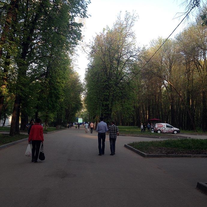 Передвижная кофейня в ЦПКиО Рязани