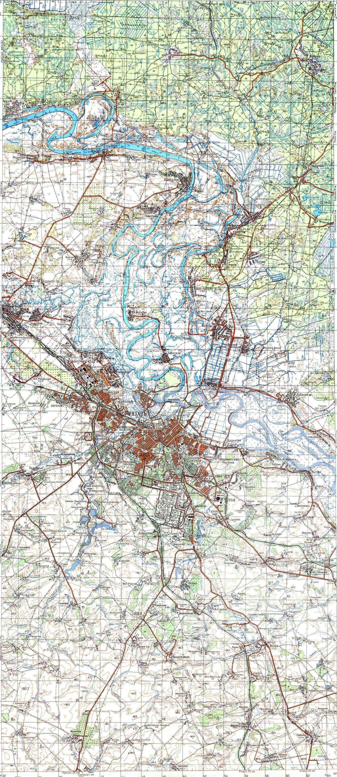 снимки рязани со спутника
